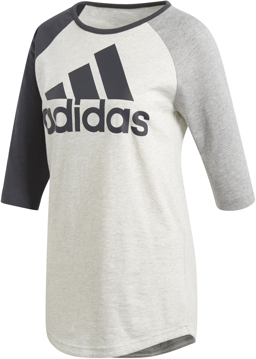 adidas sport id baseball damen t shirt white melange sportbedarf shop. Black Bedroom Furniture Sets. Home Design Ideas