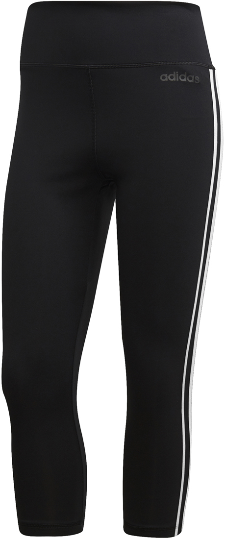 Adidas D2M 3 Stripes Damen 34 Tights schwarz