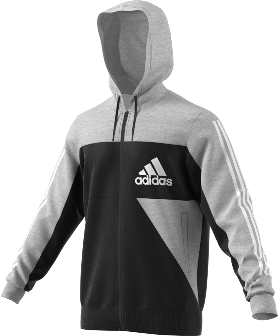 Adidas Badge Of Sports Damen Hoodie medium grey