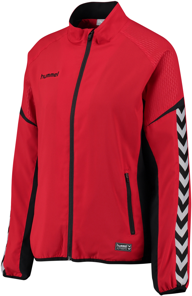 Hummel Authentic Charge Damen Micro Zip Jacke true red