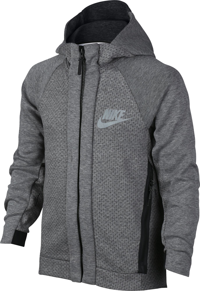 Nike Sportswear Tech Kinder Fleece Zip Hoodie carbon grey