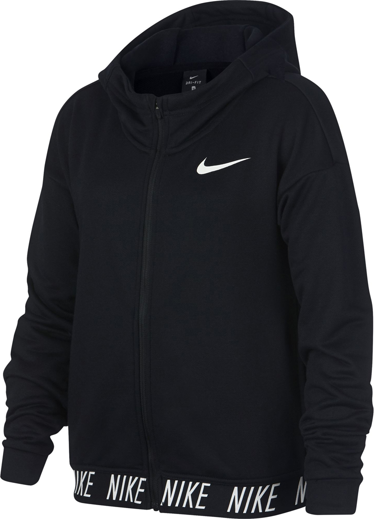 nike dry training kinder hoodie schwarz wei sportbedarf. Black Bedroom Furniture Sets. Home Design Ideas