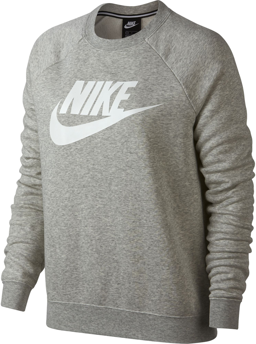 recognized brands exclusive range picked up Nike Sportswear Rally Crew Damen Langarmshirt grey heather