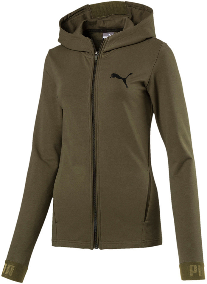 puma urban sports damen fz hoodie olive night. Black Bedroom Furniture Sets. Home Design Ideas