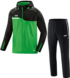 Jako Competition 2.0 Kapuzenanzug soft green-schwarz