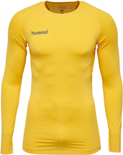Hummel First Performance Langarm Funktions Jersey yellow