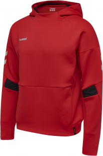 hummel authentic charge poly hoodie true red sportbedarf. Black Bedroom Furniture Sets. Home Design Ideas