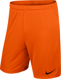 Nike Park II Kinder Knit Shorts o.Innenslip orange-schwarz