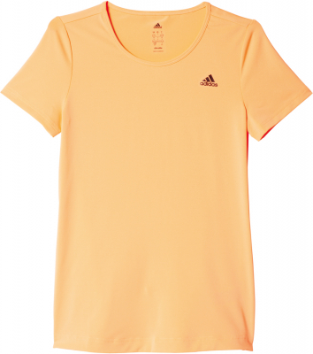 Adidas Basic Solid Damen T-Shirt flash orange-schwarz