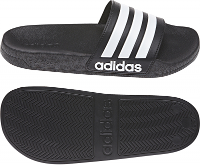 Adidas Shower Cloudfoam Adilette core black-weiß-core black