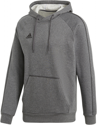 Adidas Core 18 Hoodie dark grey heather-schwarz S