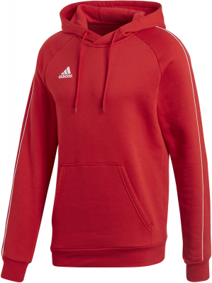 Adidas Core 18 Hoodie power red-weiß