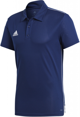 Adidas Core 18 Polo dark blue-weiß XS