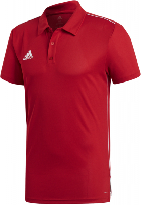 Adidas Core 18 Polo power red-weiß   Sportbedarf Shop ff1dfae4ad