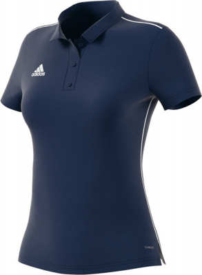 Adidas Core 18 Damen Polo dark blue-weiß XL