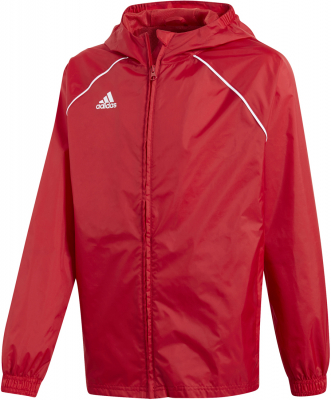 Adidas Core 18 Kinder Regenjacke power red-weiß 116