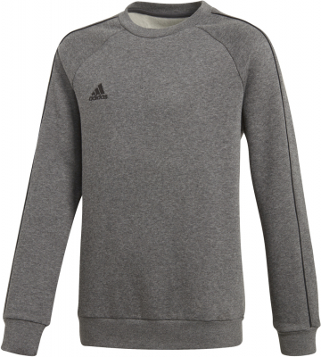 Adidas Core 18 Kinder Sweat Top dark grey heather-schwarz 164