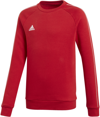 Adidas Core 18 Kinder Sweat Top power red-weiß 140