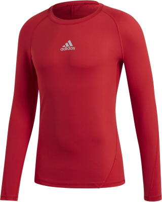 Adidas Alphaskin Langarm Shirt power red 3XL