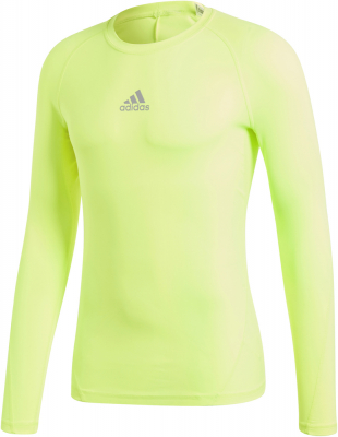 Adidas Alphaskin Langarm Shirt safety yellow