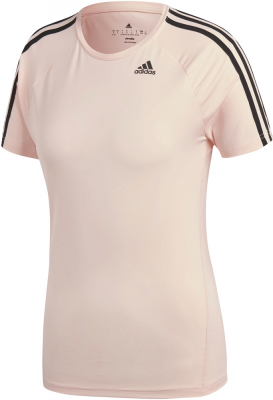 Adidas D2M 3S Damen T-Shirt clear orange