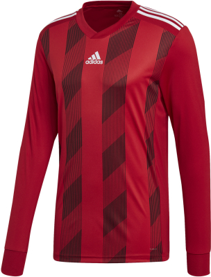 Adidas Striped 19 Langarm Trikot power red-weiß 152