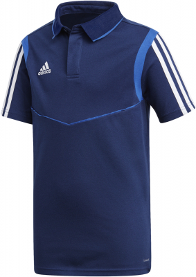 Adidas Tiro 19 Kinder Cotton Polo dark blue-bold blue 116