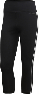 Adidas D2M 3-Stripes Damen 3/4 Tights schwarz