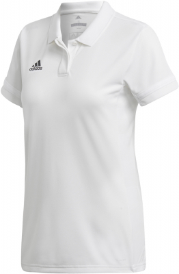 Adidas Team 19 Damen Polo Shirt weiß