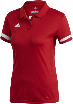 Adidas Team 19 Damen Polo Shirt power red-weiß