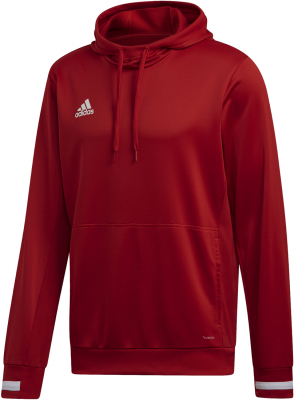 Adidas Team 19 Herren Hoodie power red-weiß L