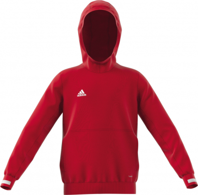 Adidas Team 19 Kinder Hoodie power red-weiß 128