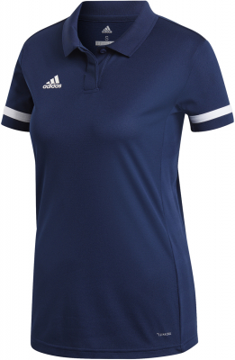 Adidas Team 19 Damen Polo Shirt team navy blue-weiß