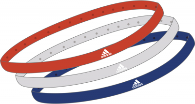 Adidas Haarband 3er-Pack active orange-grey one-col.royal Einheitsgröße