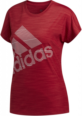 Adidas Badge Of Sports Damen Logo T-Shirt active maroon