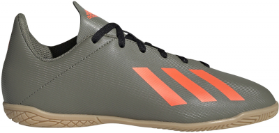 Adidas X 19.4 IN Kinder Fußballschuh leg. green-solar orange 28