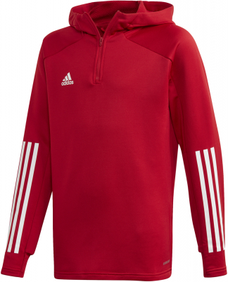Adidas Condivo 20 Kinder Hoodie team power red-weiß