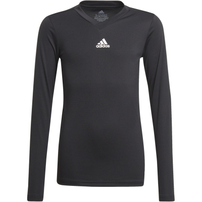 Adidas Kinder Langarm Base Shirt Team schwarz 164
