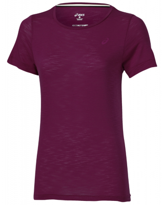 Asics Layering Damen T-Shirt plum