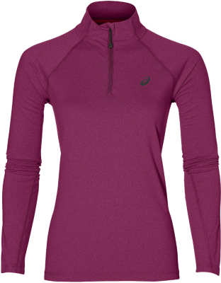 Asics Damen Langarmshirt 1/2 Zip prune heather