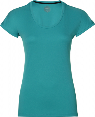 Asics Capsleeve Damen Kurzarm Shirt lake blue heather