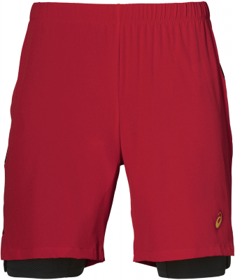 Asics 2in1 7inch Herren Shorts classic red