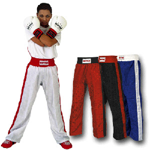 Kickboxhose Classic weiss/rot 200 cm