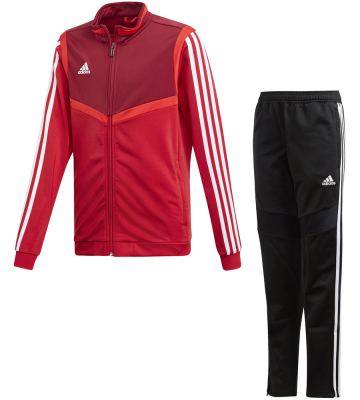 Adidas Tiro 19 Kinder Polyesteranzug power red-weiß