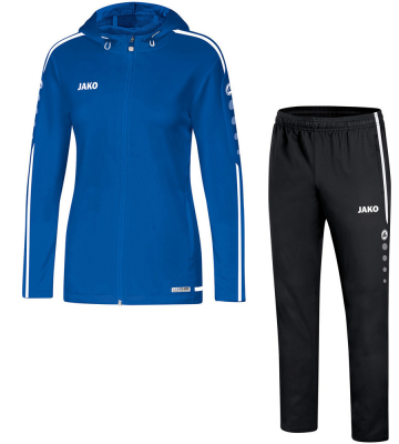 Jako Striker 2.0 Damen Kapuzenanzug royal-weiß