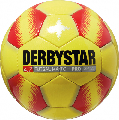 Derbystar Match Pro S-Light Futsal-Ball Gr. 4 gelb-rot