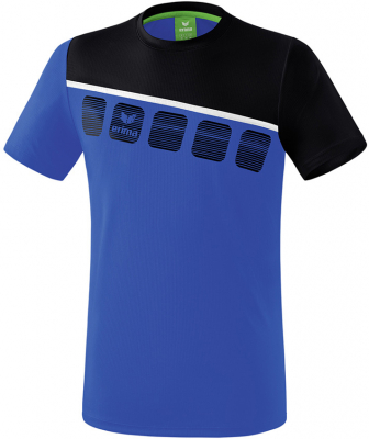 Erima 5-C T-Shirt new royal-schwarz-weiß