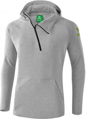 Erima Essential Kapuzensweat hellgrau melange-twist of lime