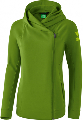 Erima Essential Damen Kapuzensweatjacke twist of lime 40