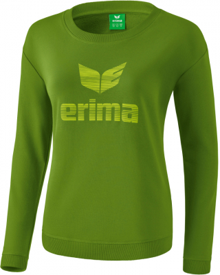 Erima Essential Damen Sweatshirt twist of lime-lime pop